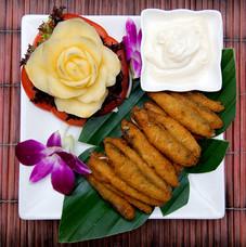 8. Crispy Silver Bait with Garlic Mayona