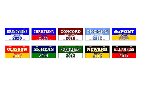"""CLASS OF"" Delaware License Plates"