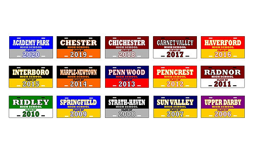 """""""CLASS OF"""" Delaware County License Plates"""