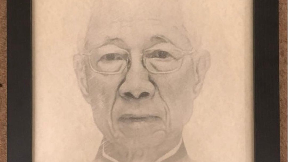 Grandmaster Chu Shun TinFramed Picture Size A3