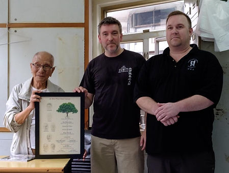 Grandmaster Ip Chun with Master Colin Wa