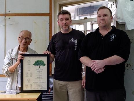 Grandmaster Ip Chun with Master Colin Wa