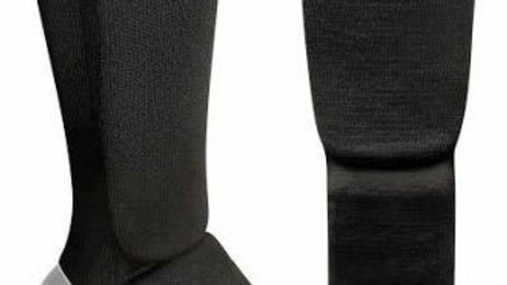 SPARRING ELASTICATED SHIN PROTECTOR : BLACK