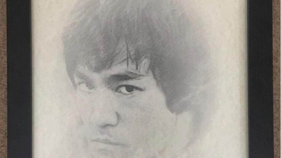 Grandmaster Bruce LeeFramed Picture Size A3
