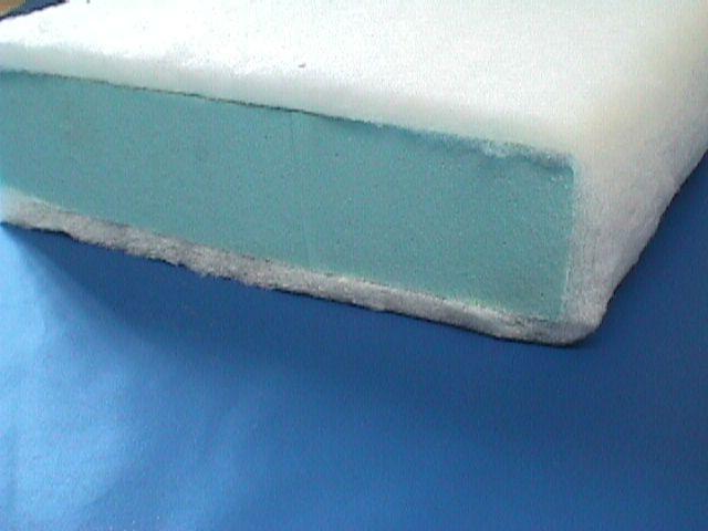 Dacron wrapped foam cushion