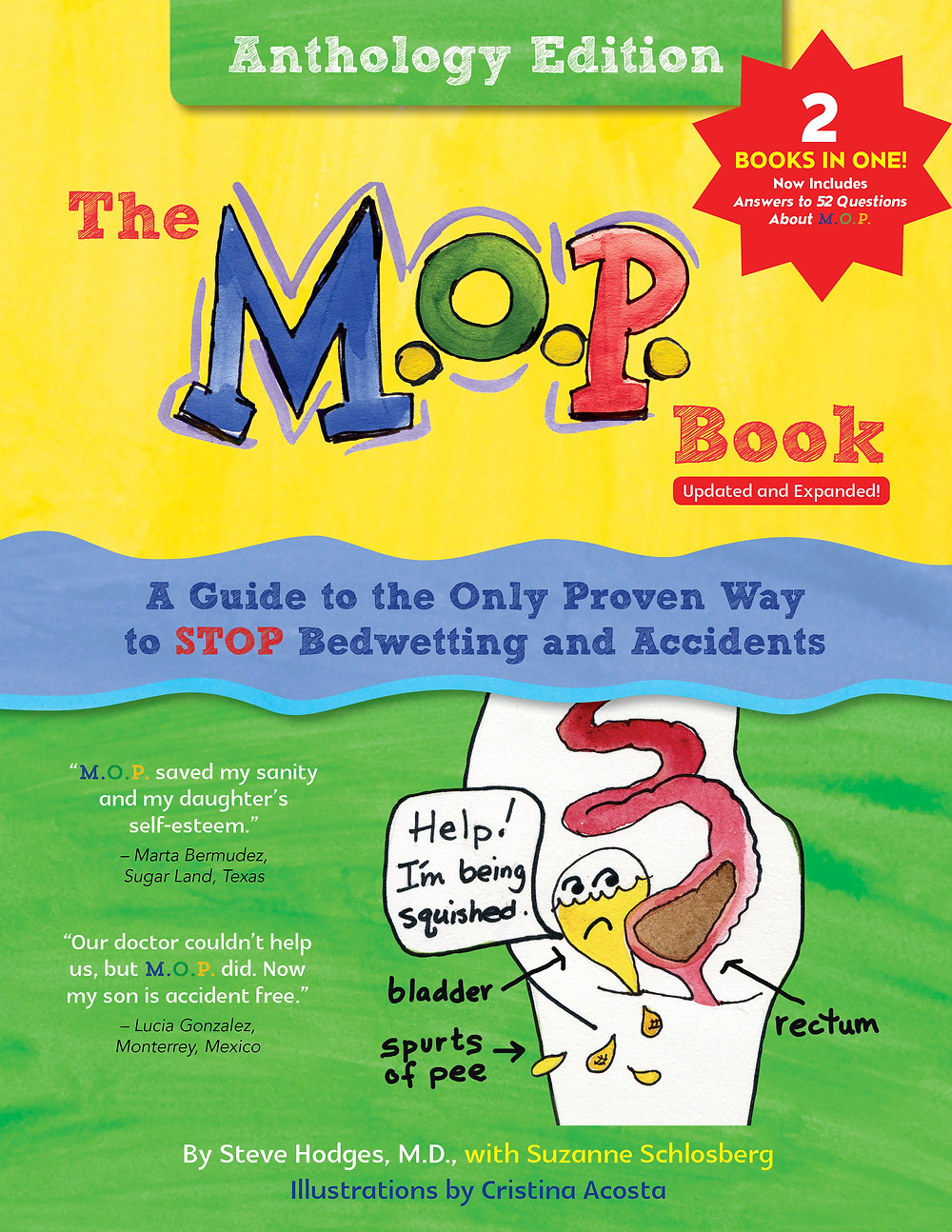 The M.O.P. Book: Anthology Edition teaches how to stop bedwetting, pee accidents and poop accidents.