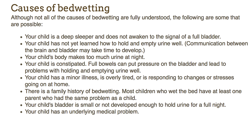causes of bedwetting