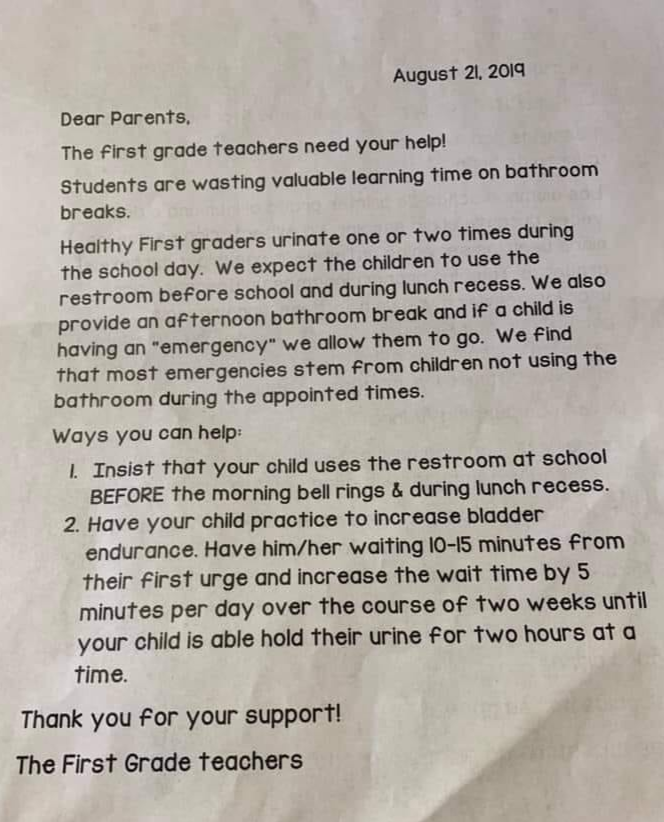schools restrict bathroom access