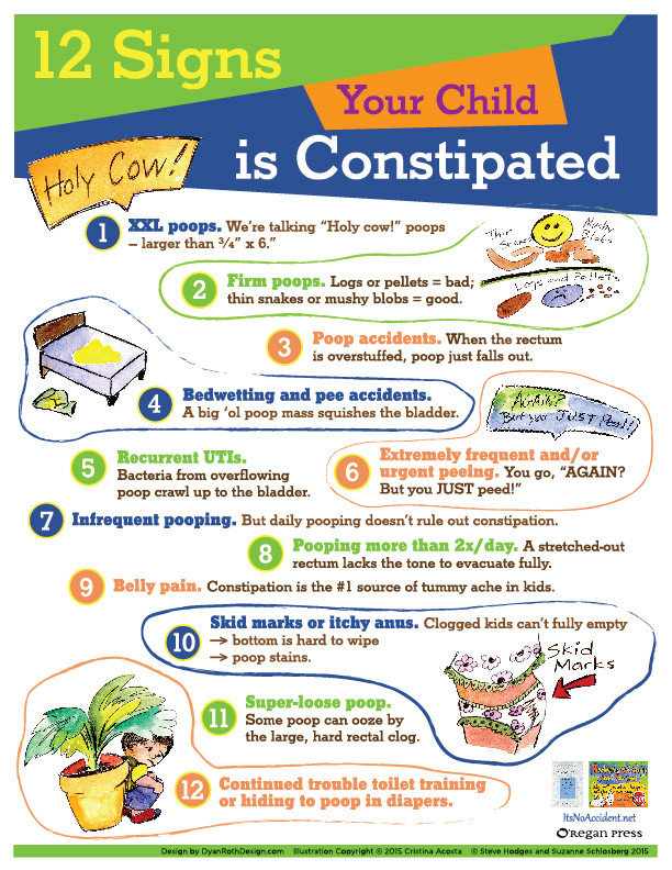12 signs your child is constipated chart