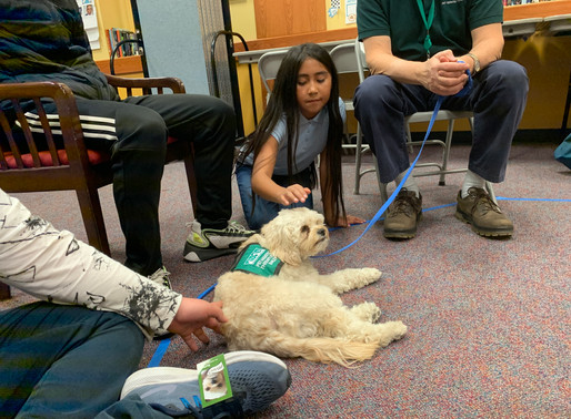 Assisted Therapy Dog Visit at DeLue
