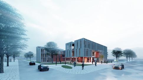 [세종시 보건소]  Sejong Health-care Center  Client: Sejong city Program: Medical facility, Community Facilities  Scale: 3,928 sqm  co-work: Jisang architects   Status: competition entry