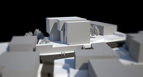 Block housing, sungbuk  Client: mr.K  Program: Living, leasable rooms  Scale: 420 sqm  Status: proposal