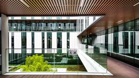 [춘천시청사:중정] Courtyard: Chuncheon city hall   Client: Chuncheon city  Program: Goverment office, Community Facilities, park place  Scale: 33,365 sqm  Status: competition 1st prize/ built