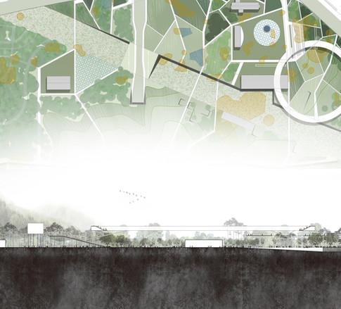 춘천시민공원 마스터플랜 MP for Chuncheon Citizen's Park  Client: Chuncheon city   Program: Park, Commercial, Educational, Community Facilities  Scale: 350,000 sqm  Co-work: Bonsigudo Landscape, Archium, Baum urban Arch   Status: competition entry
