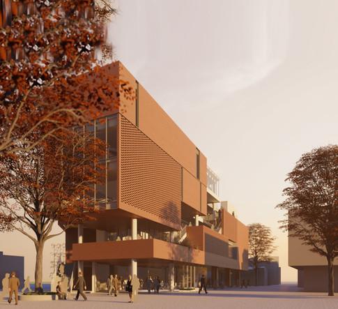 [간석 행정복지센터]  Gansuk Admin/wellfare Center  Client: Incheon city  Program: Administrations facility, Library, Community Facilities  Scale: 30,012sqm  co-work: Leem architects   Status: competition 1st prize