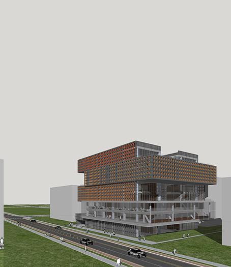 [마곡 공공산업지원시설]  Public Industry Support Facilities of Magok Industrial Park, Magok   Client: Seoul City hall  Program: shared office, start-up offices, Community Facilities  Scale: 22,048 sqm  Status: competition 3rd prize