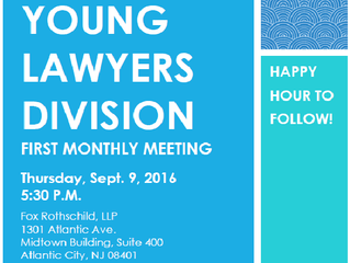 Come to the YLD's First Monthly Meeting on 9/8 and See What We Are All About!