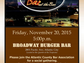 "Meet us at Broadway Burger Bar for the ACBA's ""The Bar at the Bar"" November Happy Hour"