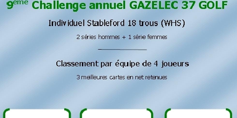 9ème challenge annuel Gazelec 37 Golf le 28 août à ARDREE