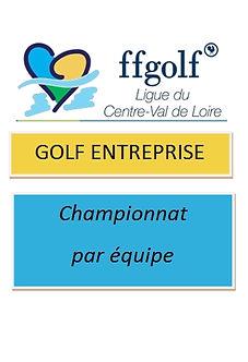 Logo Golf Entreprise Championnat équipe.