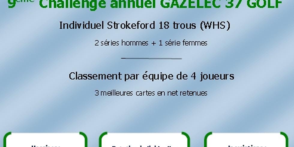 9ème challenge annuel Gazelec 37 Golf