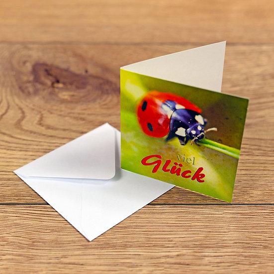 """Grusskarte """"Viel Glück"""""""