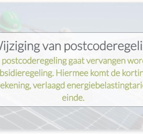 Infographic: Wijziging postcoderegeling