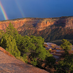 Rainbow Over the Monument Panorama