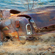 Rusted Car by the Colorado River
