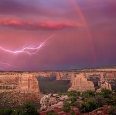 Lightning Over the Monument