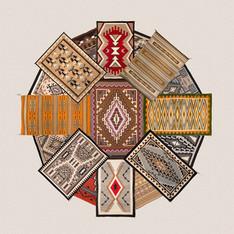 Navajo Rug Collage - Art Center of Western Colorado