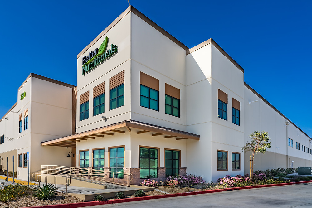 This is a photo of Better Nutritionals main office (the outside) in Norco California
