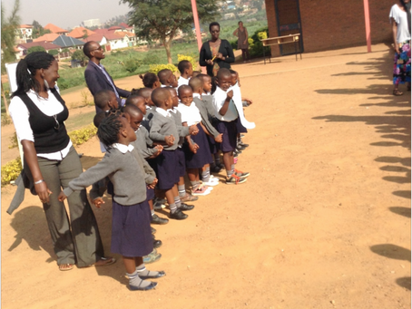 Guest post by Headteacher Jean de Dieu: Peace assembly at Umubano Primary School