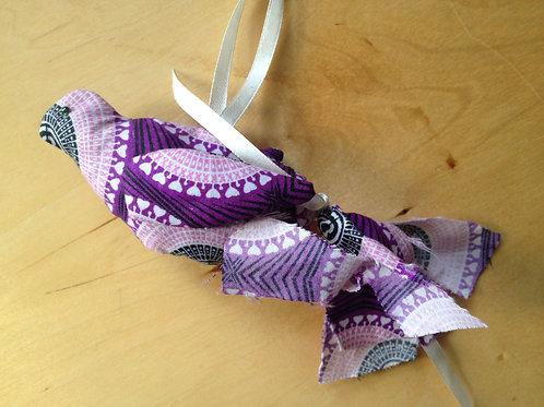 Hanging bird decoration - purple