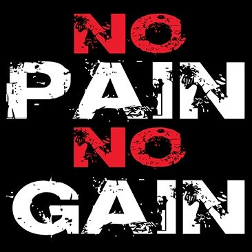 Image result for no pain no gain