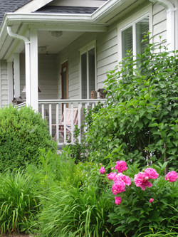 Front porch of Ward Cottage