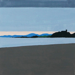 Morfa Bychan, gouache on paper, 150 X 150mm
