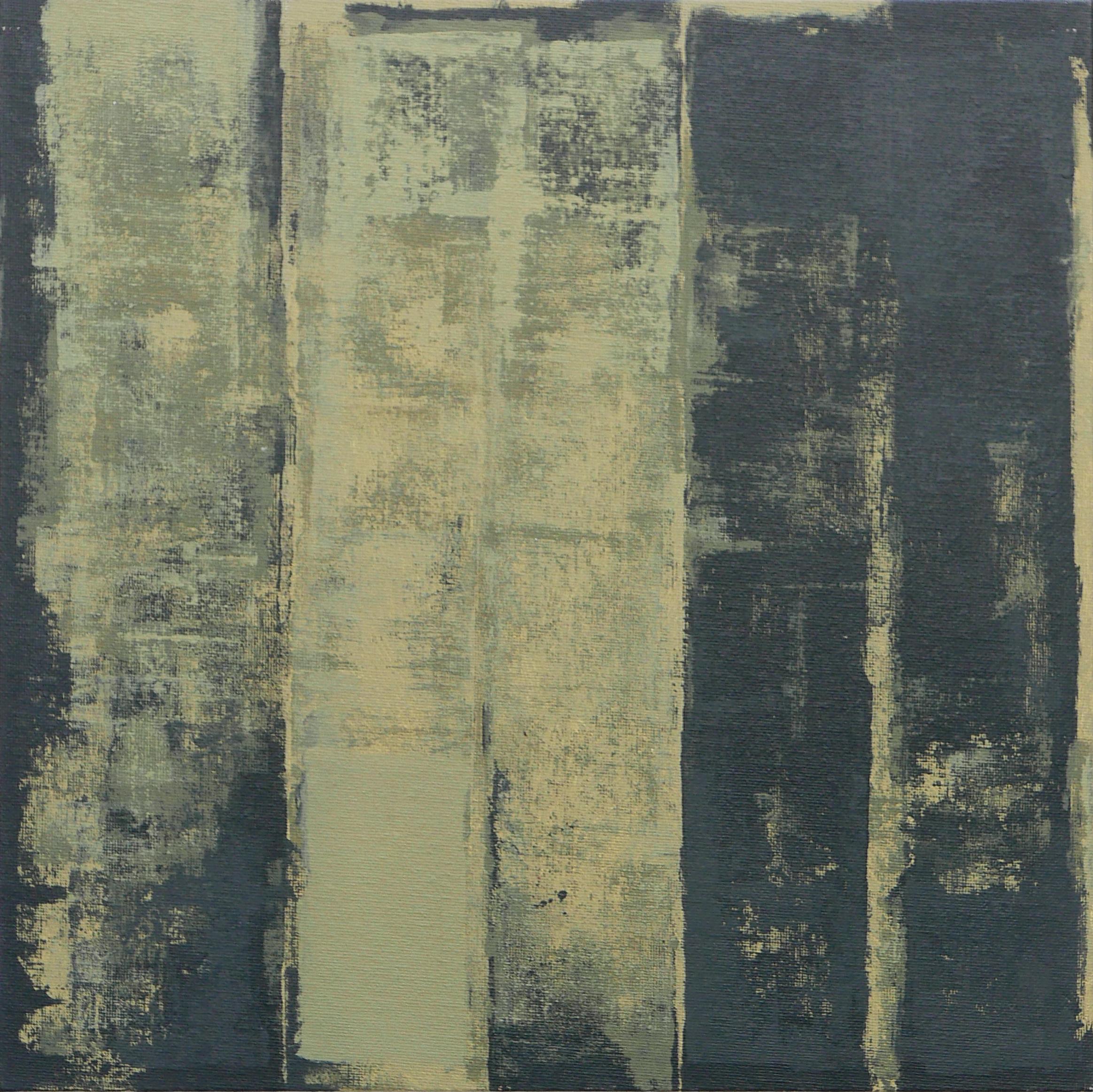Talus. Acrylic on canvas panel, 340 X 340 (framed)