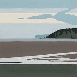 Red Wharf Bay, gouache on paper, 150 X 150mm