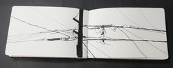 Manga pen and ink drawing