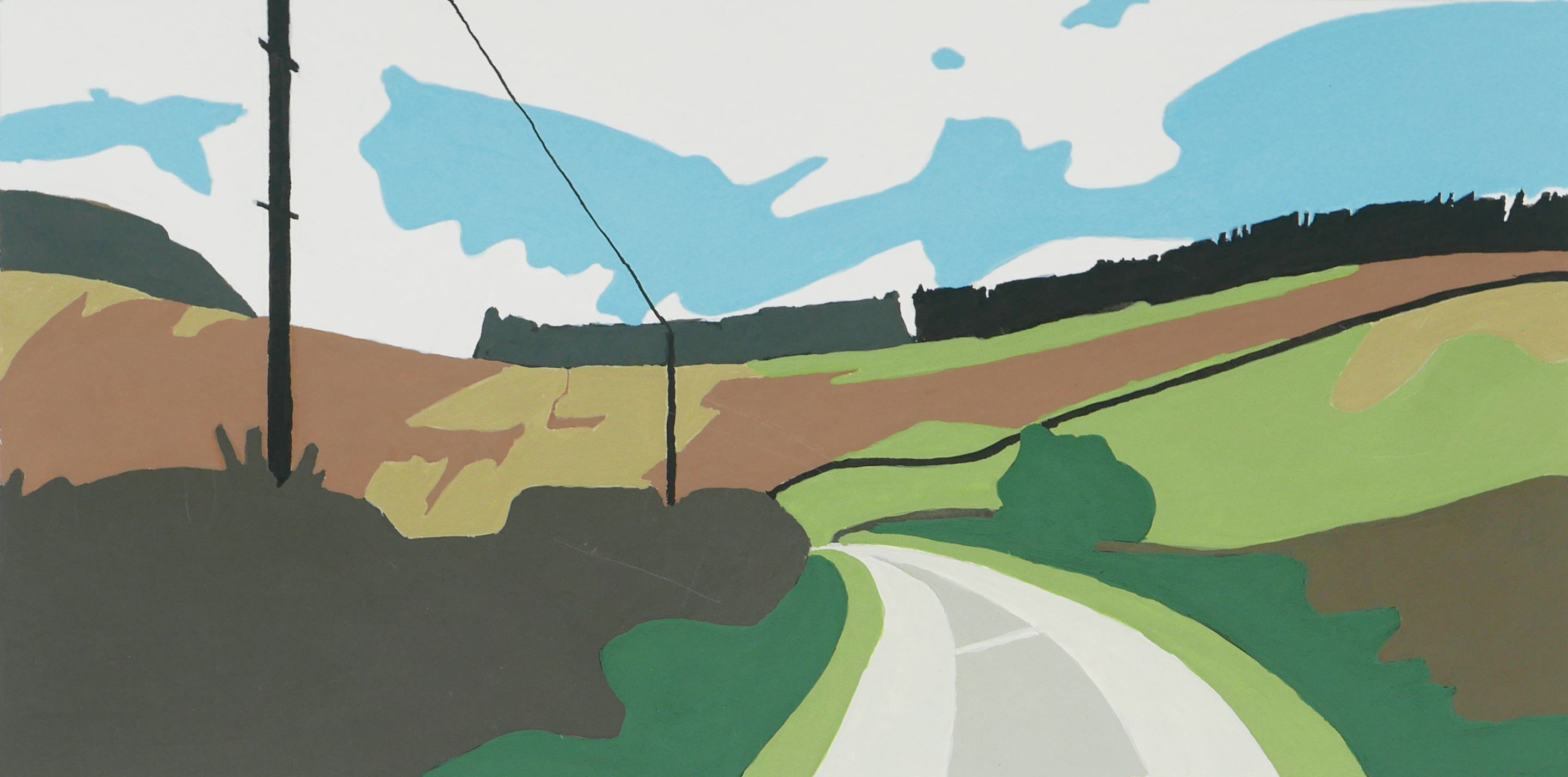 Byways 1, gouache on paper, 260 X 130mm