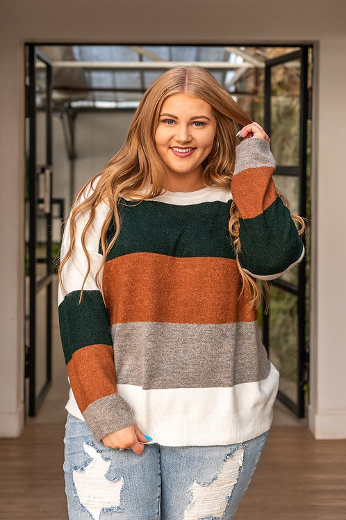 Your Side Color Block Sweater