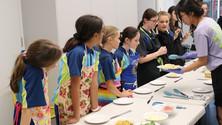 Girls cooking class