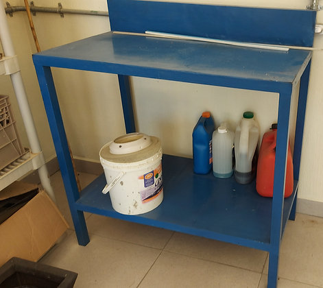 """Metal Work Table: 39"""" wide, 22"""" deep and 37"""" tall"""
