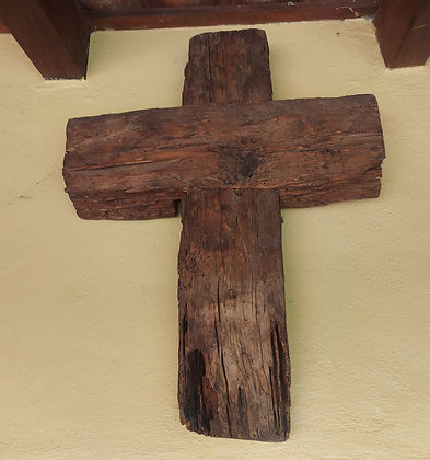 """Large Rustic Wood Cross, 27"""" by 36"""" tall"""