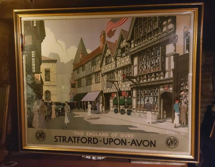 Stratford-upon-avon-poster-GWR-Great Western Railway-original