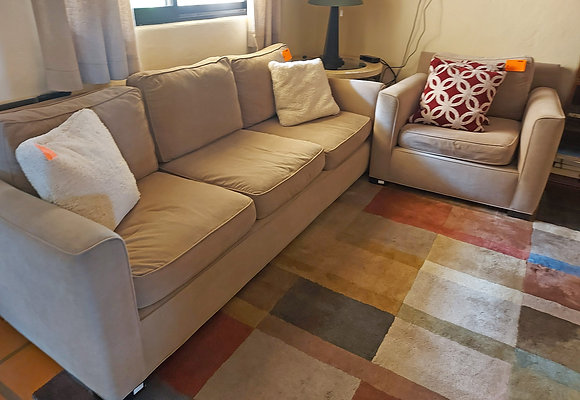 """Living Room Set, Crate & Barrel Brand, 91"""" Sofa and Chair"""