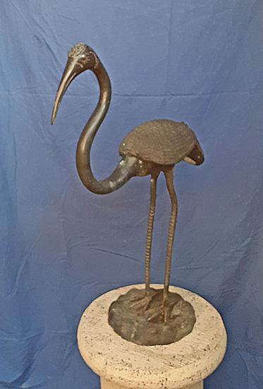 Bronze Figures a Heron