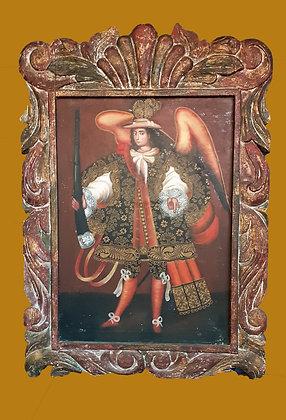 Peruvian Painting of Archangel Cusco School