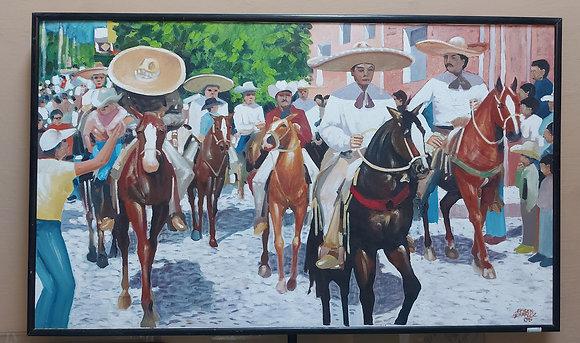 Charro-Oil-Painting-Efren-Gonzalez-Ajijic-2005